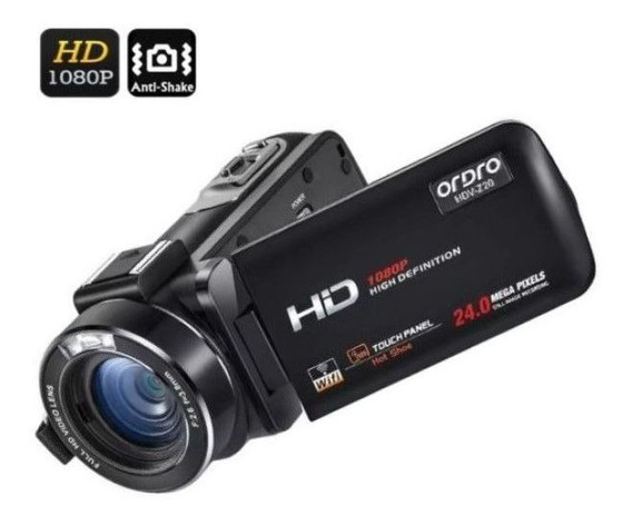 Filmadora Digital Ordro Hdv-z20 Wi-fi 16x Zoom 24mp Full-hd