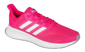 Tenis adidas Falcon K Fucsia Tallas Del #22 Al #26 Mujer Ppk