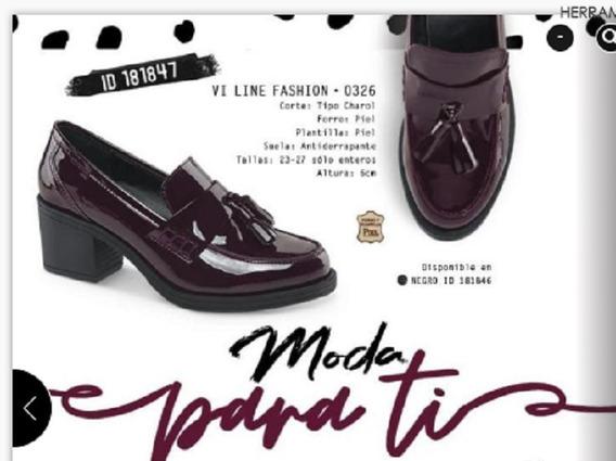 Zapato Vi Line Fashion Color Vino 181847 Vc-18 F