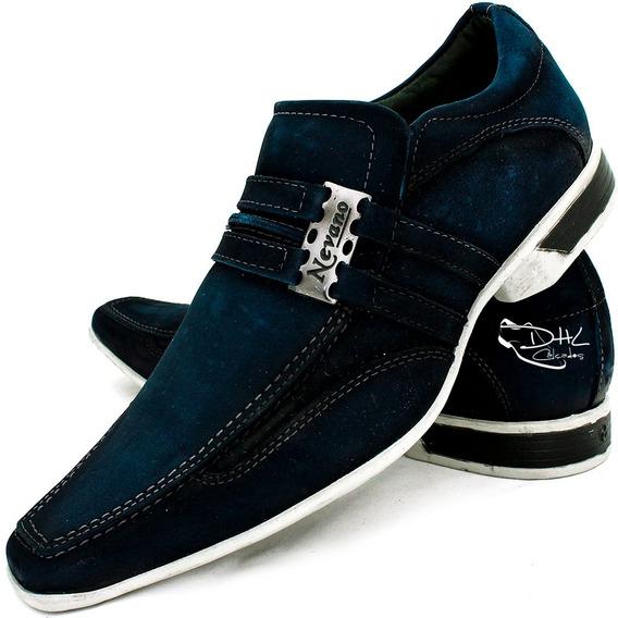 Sapato Masculin Couro Confort Gel Casual Homem Dhl Calçados
