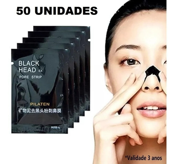 50 Máscara Black Head Pilaten Facial Pele Cravos Preta Negra