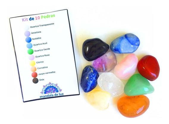 Kit 10 Pedras Mistas Cristais Naturais Conjunto Mix Energias