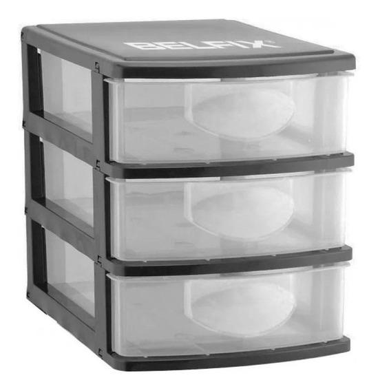Organizador Plástico - 3 Gavetas 158100 - Belfix