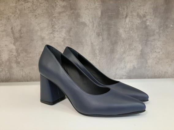 Zapato Vestir Taco Cuadrado