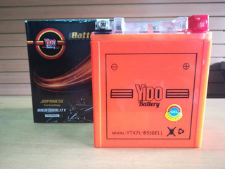 Bateria Ytx7 L-bs Yido, Para Outlook, Hj Cool, Tx