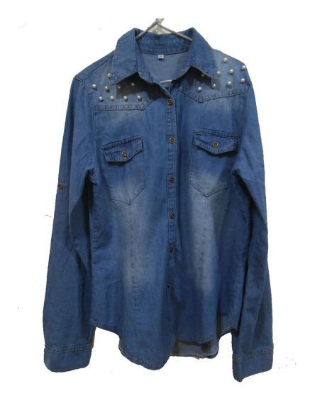 Camisas De Jean Con Perlitas