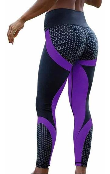 Leggins Mujer Deportivos Moda , Licra Colombiana Ejercicio