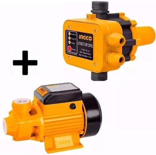 Kit Bombazo Ingco Bomba Agua Periferica 1/2hp+ Press Control