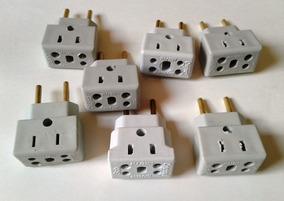 Adaptador 20 Amperes P/ Fonte, Geladeira, Secador, Kit Com 4