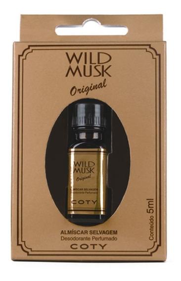 Coty Almiscar Selvagem Wild Musk Óleo Perfumado 5ml 12 Unid