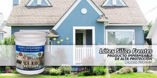 Latex Silice Impermeable Color Gris Cemento X 1 Lt Premier