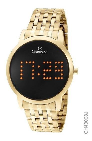 Relógio Digital Feminino Champion Dourado Ch40008j