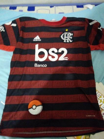 Camisa Flamengo Oficial Brinde Pokébola Do Mc