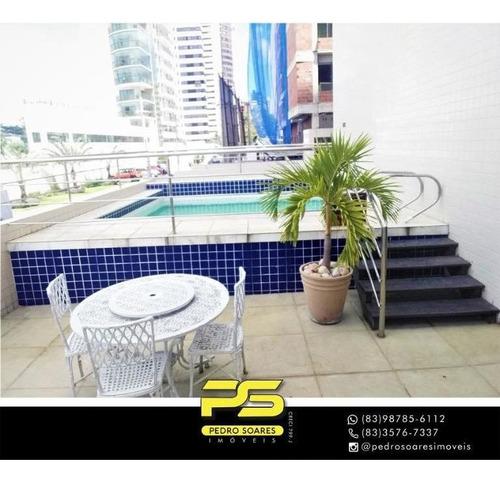 Apartamento Com 3 Dormitórios À Venda, 90 M² Por R$ 355.000 - Cabo Branco - João Pessoa/pb - Ap4446