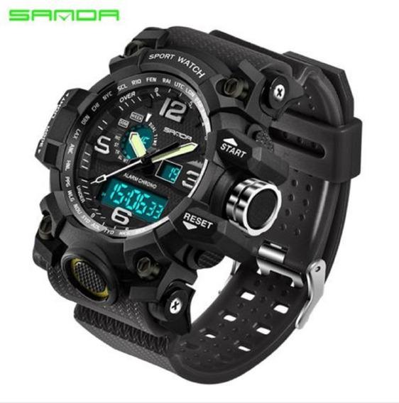 Relógio Sanda Analógico/digital Esport Shock Militar P Dagua