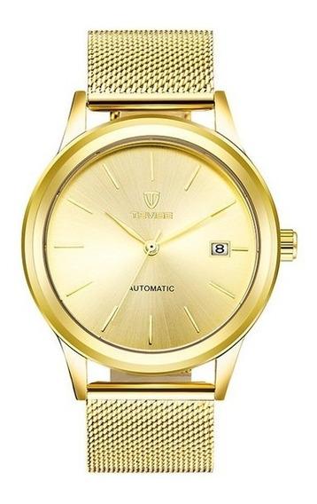 Relógio Tevise Masculino De Luxo Automático Original Novo