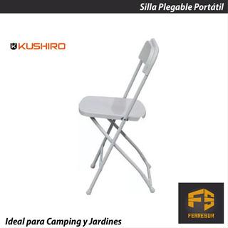Silla Plegable Portátil Kushiro Ideal Jardines Y Camping