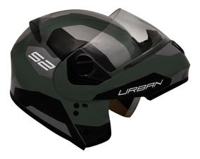 Capacete Moto Peels Urban Sync Escamoteável Verde Militar