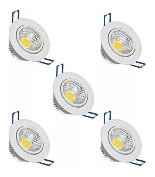 Kit 5 Spot Led 5w Lampada Dicroica Direcionável Sanca Gesso