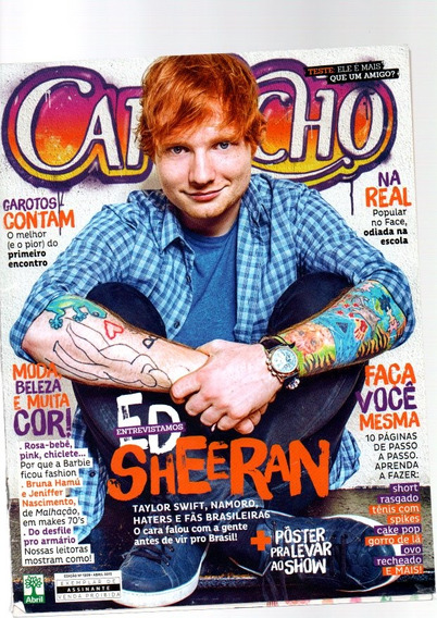 Revista Capricho Ed Sheeran Entrevista C/ Poster - Abr 2015