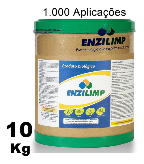 Enzilimp Bact P/ Limpar Pia Ralo Caixa De Gordura Fossa 10kg
