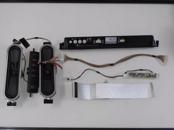 Kit Lvds Sensor Ir Botão Flat Alto Panasonic Tc-l32u30b Fret