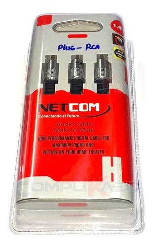 Cable Plug 3.5mm A Rca De 1.80 Metros Netcom