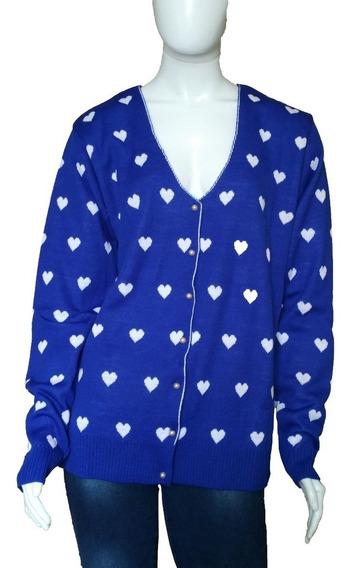 Kit 4 Casacos De Lã Blusas Botões Estampas Cardigã Feminino