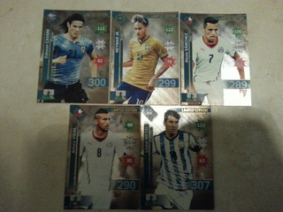 Lote 5 Cartas Limited Adrenalyn Copa América Chile 2015