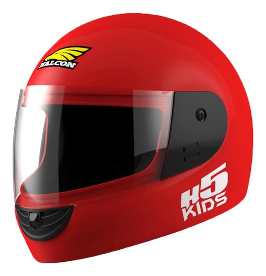 Casco Moto Niño Halcon H5 Kids Integral Rojo Tienda Oficial