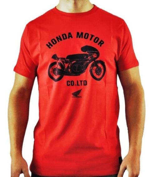 Remera Original Honda Arte Mt W19 Oficial Rojo Yuhmak