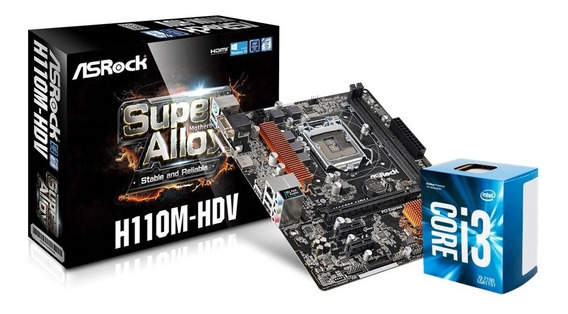 Combo Actualización Pc Intel I3 6100 Mother H110 Asrock C1