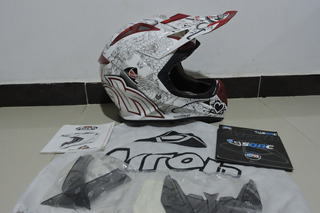 Casco Airoh Aviator Carbono Motocross Enduro Mx Fox Shoei