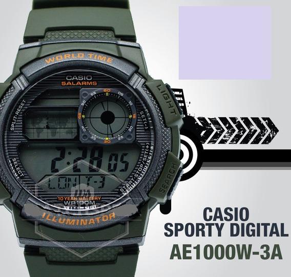 Relógio Esportivo Casio Analógico / Digital Watch Ae1000w
