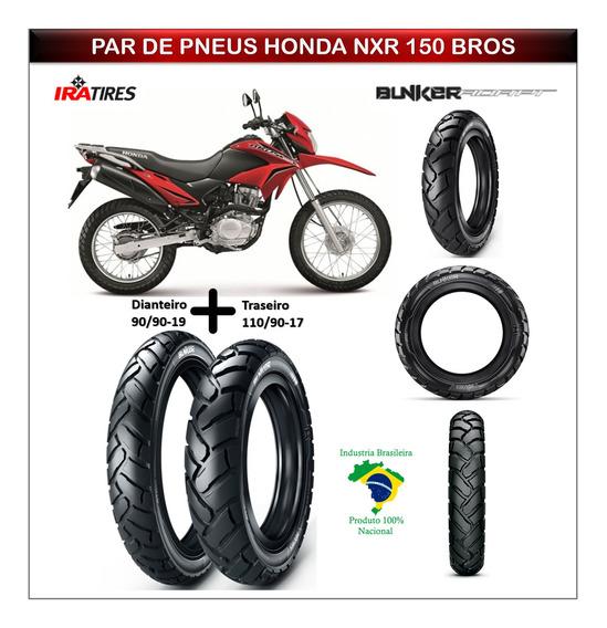 Honda Nxr 150 Bros 150 Pneu Dianteiro Traseiro Tam Original