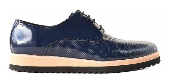 Zapatos Mujer Cuero Abotinado Briganti Chatita - Mccha2974 2