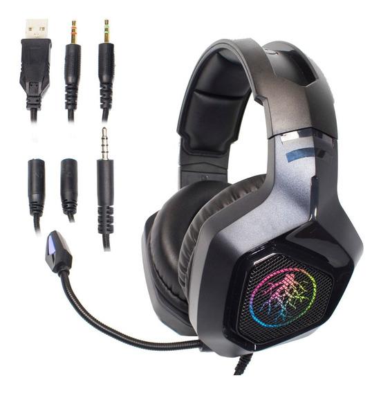 Fone Headset Gamer 7.1 Hd Led Mic Usb Celula P2 Xbox Ps4 Pc
