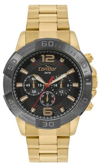 Relógio Masculino Condor Dourado Covd54ay/4p