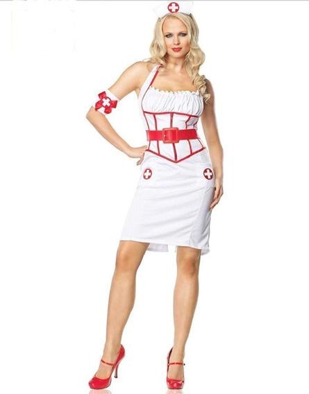 Disfraz De Enfermera Importado Talla M