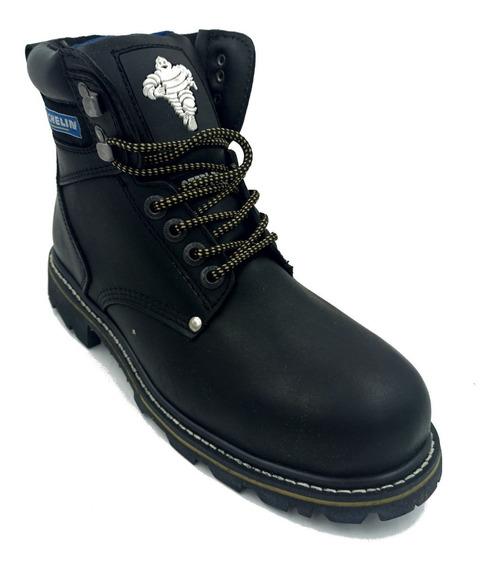 Zapato Michelin Star Fighter Negro Hombre Con Casquillo