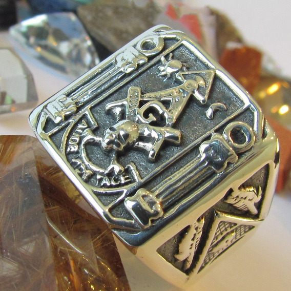Anel Maçonaria Em Prata Maciça Cod 2233 Ojoalheiro