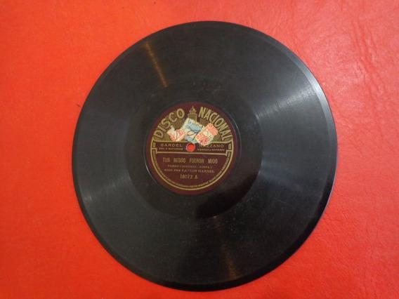 Carlos Gardel- Razzano Disco De Pasta Sello Rojo 18172.