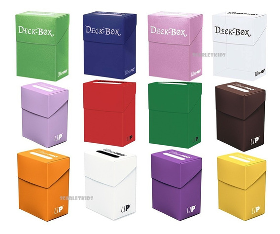 Deck Box Ultra Pro Colores Solidos Scarlet Kids