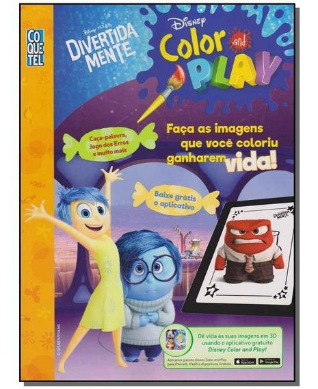 Livro - Disney Color And Play - Divertida Mente