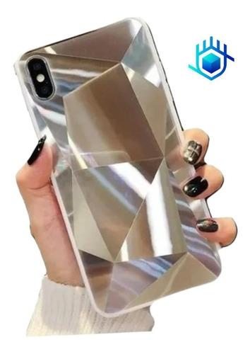 Case Diamantes Espejo iPhone Galaxy Huawei Dama Hombre Mujer