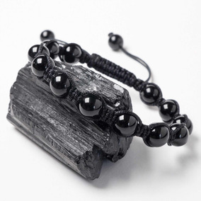 Pulseira Turmalina Negra Pedras Naturais Shambala Design