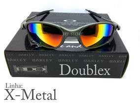 45597dc40 Double X Metal Cinza Fosco De Sol Oakley - Óculos no Mercado Livre ...