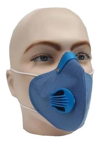 Máscara Anti Polución Polvo Carbon Tapabocas Bicicleta Negra