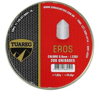 Chumbinho Munição Carabina De Pressão Tuareg Eros 6.0mm 200u