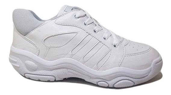 Zapatillas Plumitas Colegial Cordon Negro Blanco N° 20 / 26